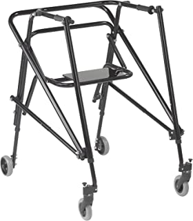 Inspired by Drive Nimbo 2G Lightweight Posterior Walker with Seat, Emperor Black, Extra Large