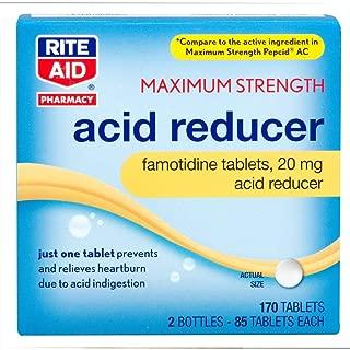 Rite Aid Pharmacy Acid Reducer, Maximum Strength, 20 mg, Tablets, 2-85 Tablet Bottles 170 Tablets