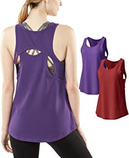 Tesla Women's Racerback Tank Compression Cool Crop Fitness Yoga Slim Fit Top