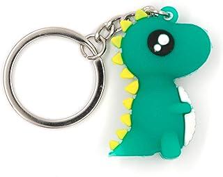 Alisa Novelty Dinosaur Key chain,sof Silica gel Cute Key ring for Girl Boy