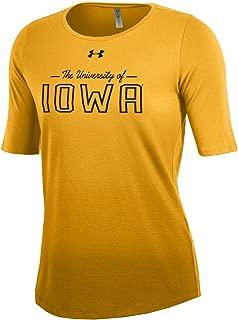 Under Armour NCAA Iowa Hawkeyes Women's Dip Dye Short Sleeve Tee, Large, Gold