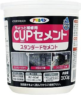 アサヒペン ちょっと補修用 CUPセメント スタンダードセメント 300g