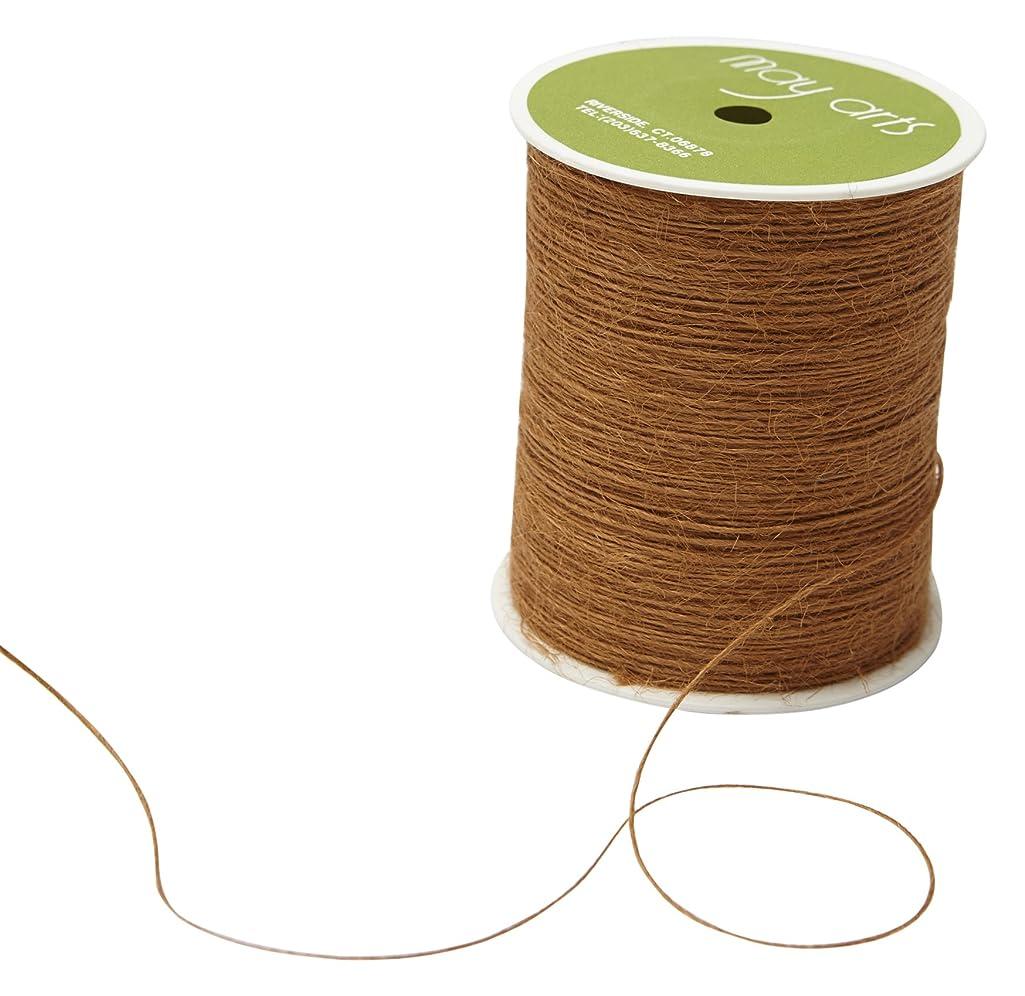 May Arts String Burlap Ribbon, 400 yd, Antique Gold