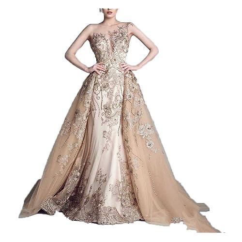 d12929824b40f Ellenhouse Long Detachable Skirt Beaded Applique Formal Prom Wedding Dress  EL102