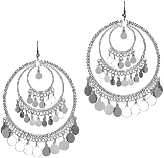 Total Fashion Silver Metal Earrings For Women's & Girls