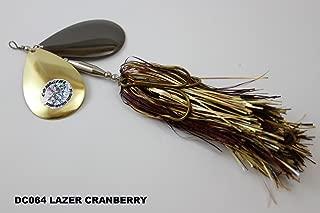 MUSKY MAYHEM TACKLE Double Cowgirl Lazer Cranberry DC064