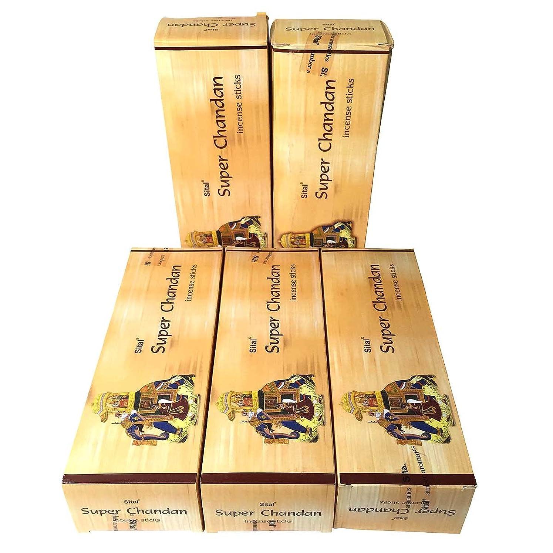 故障荒野いちゃつくスーパーチャンダン香 スティック 5BOX(30箱)/SITAL SUPER CHANDAN/ インド香 / 送料無料 [並行輸入品]
