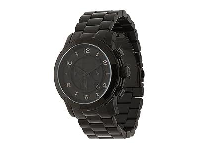 Michael Kors MK8157 Runway Chronograph (Shiny Black/Black) Chronograph Watches