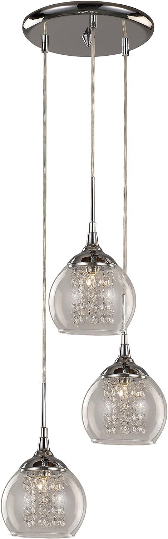 Trans Globe Lighting MDN-1218 Indoor Amore 13  Pendant, Polished Chrome