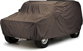 Covercraft Custom Fit Car Cover for Land Rover Defender 90 (WeatherShield HP Fabric, Taupe)