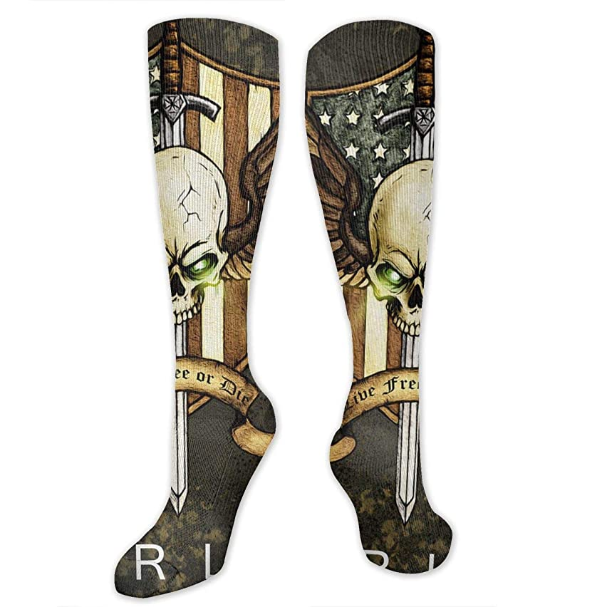 GFDISfds Harley Davidson Unisex Long Knee High Thigh Compression Cotton Dress Socks for Men Women Casual Stockings