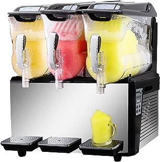 VBENLEM 110V Slushy Machine 30L Triple Bowl Slush Frozen Drink Machine 800W Frozen Drink Maker Ice Slushies for Supermarkets Cafes Restaurants Snack Bars Commercial Use