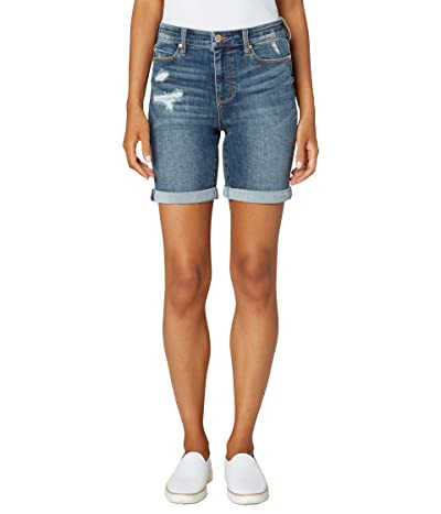 Liverpool Kristy High-Rise Shorts with Double Rolled Cuff in Alder Women