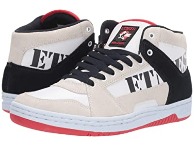 etnies MC Rap High (White/Navy/Red) Men