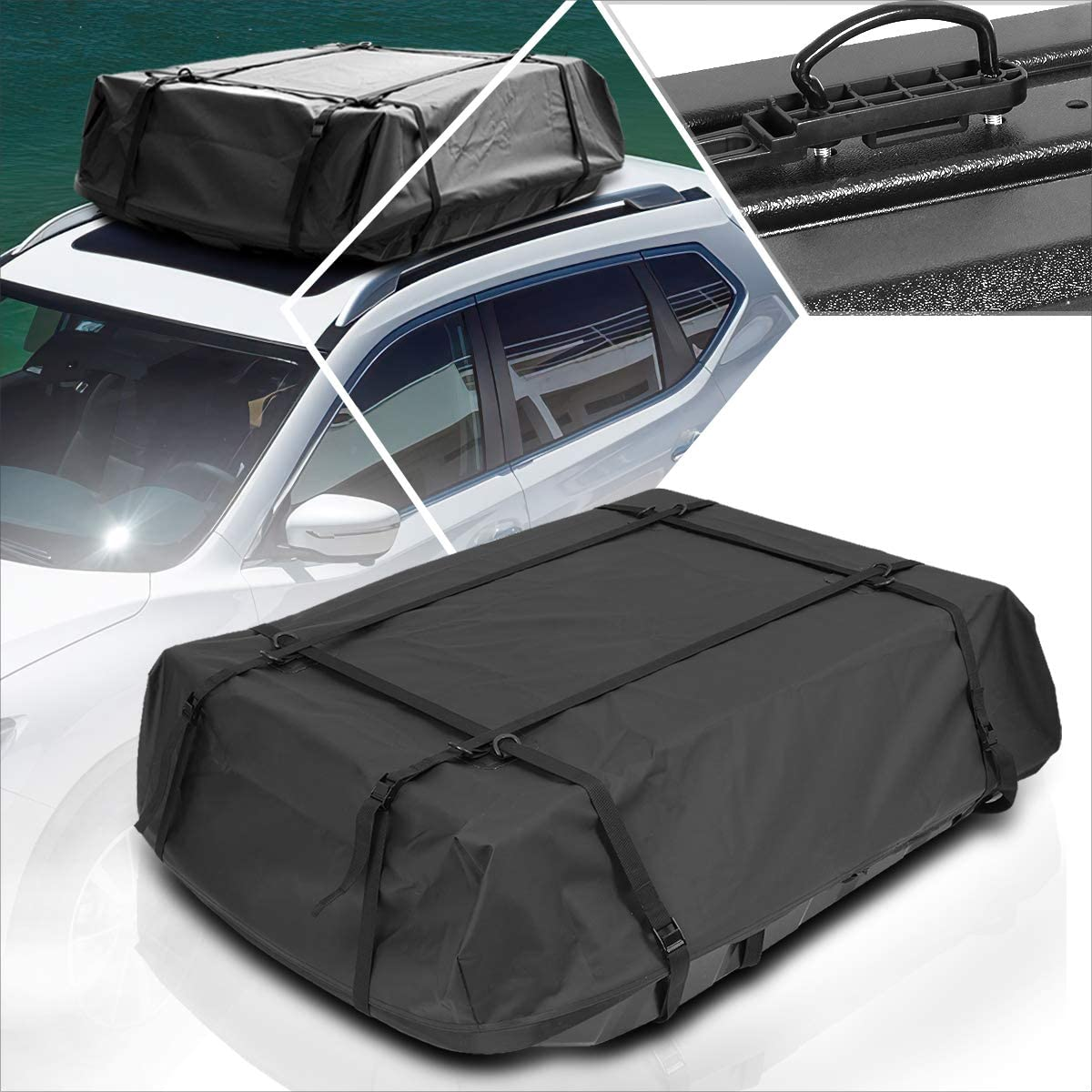Max 66% OFF Car Directly managed store Roof Black Cargo Carrier Soft Waterproof Top D Bag Rainproof