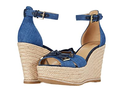 MICHAEL Michael Kors Ripley Wedge (Light Denim) Women