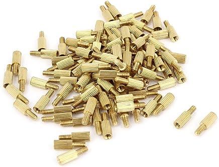 100 piezas macho a hembra de placa de circuito impreso de rosca tabla de latón Pillars