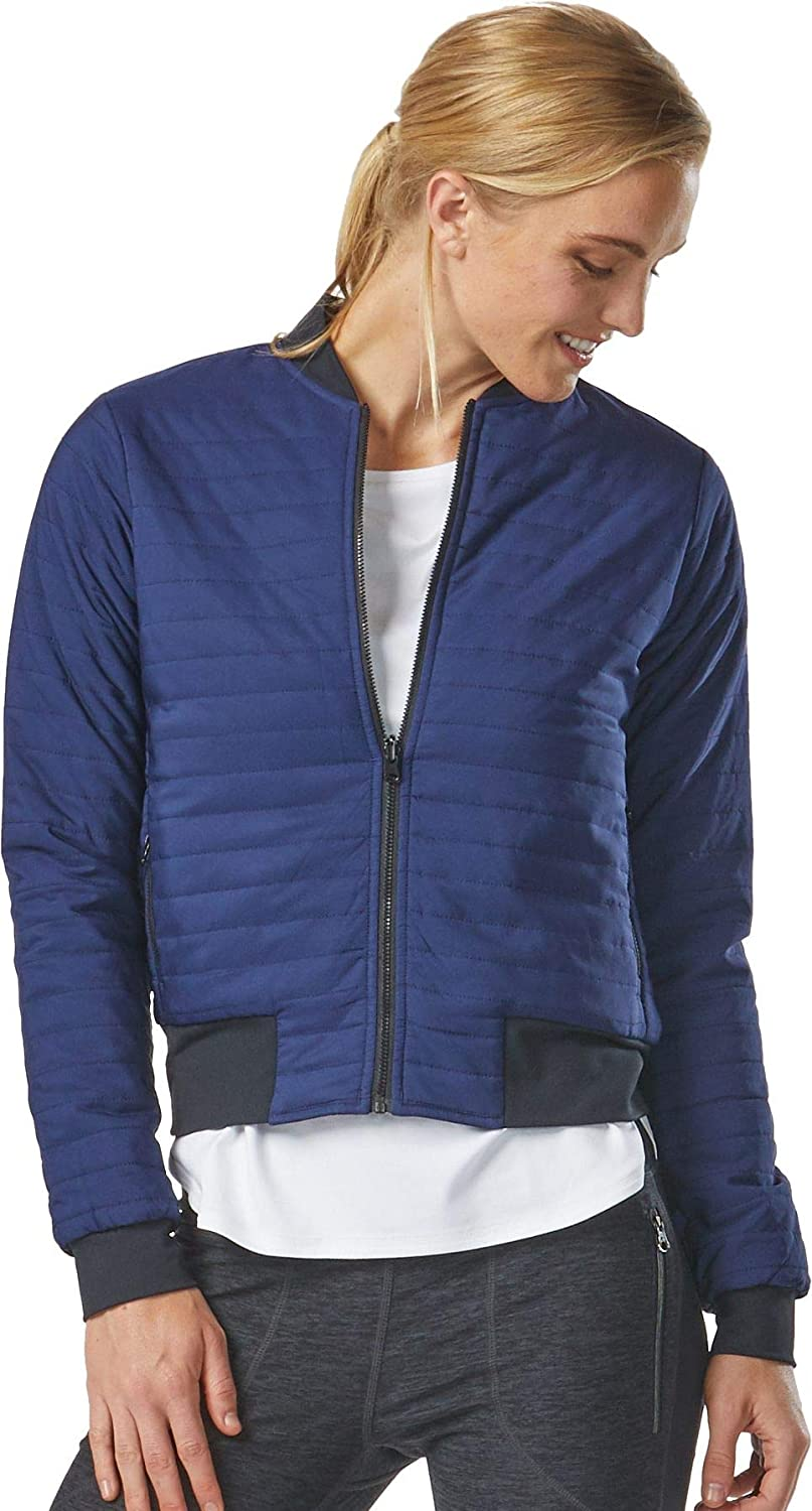 New color Ranking TOP6 R-Gear Women's Reversible Quilted Bomber with Pockets Jacket for