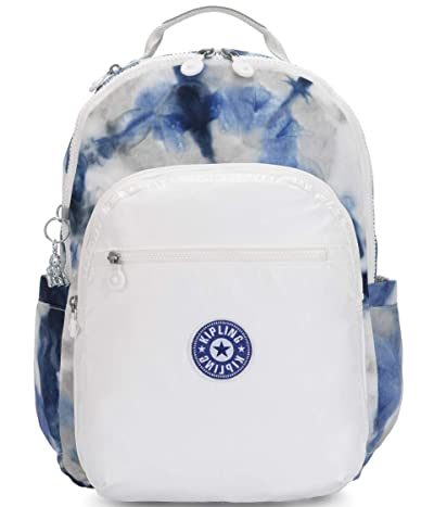 Kipling Seoul Laptop Backpack (Tie-Dye Blue Lacquer) Backpack Bags