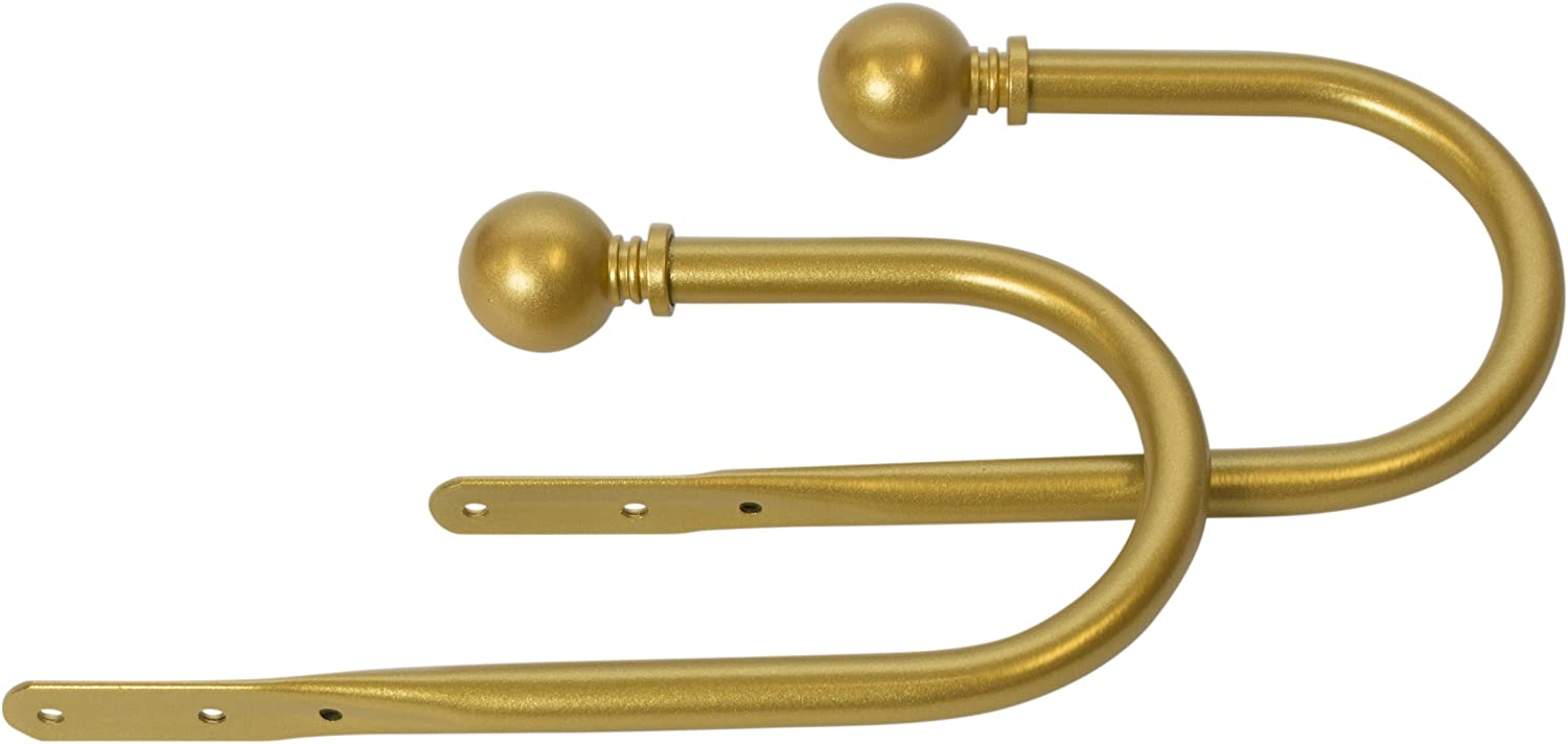 MERIVILLE Set of 2 Decorative Gold Holdb Ball Large discharge sale Curtain 67% OFF fixed price End Window