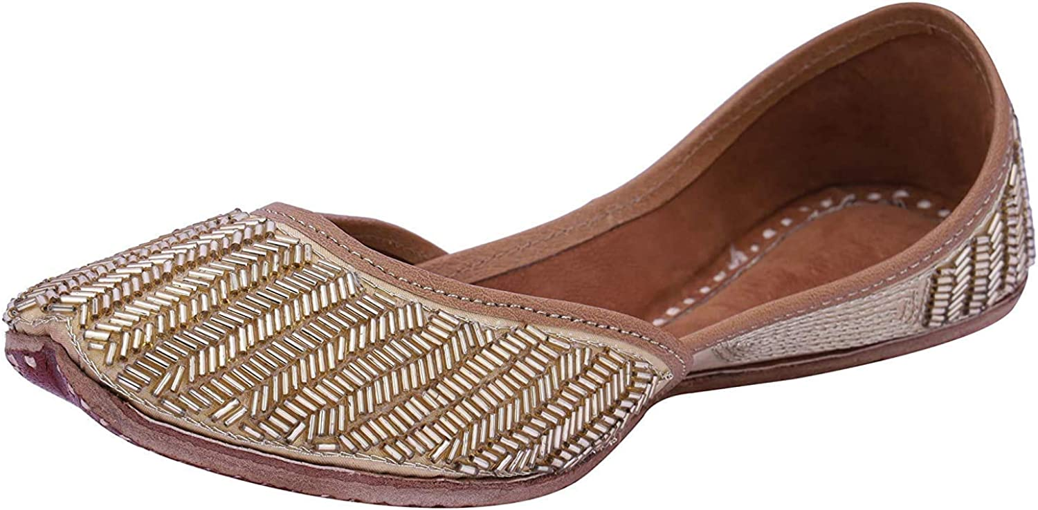 Paavdi Mojri for Women Comfortable wear Golden Jutti All safety stores are sold Fl