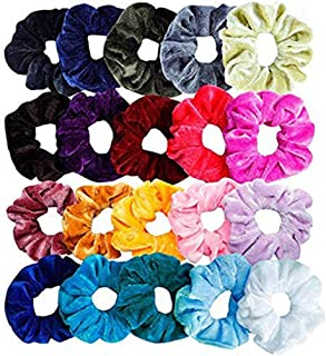 MOMOW Women or Girls Fashion Cotton Blends Scrunchy Hair Ties Accessories Velvet Ropes