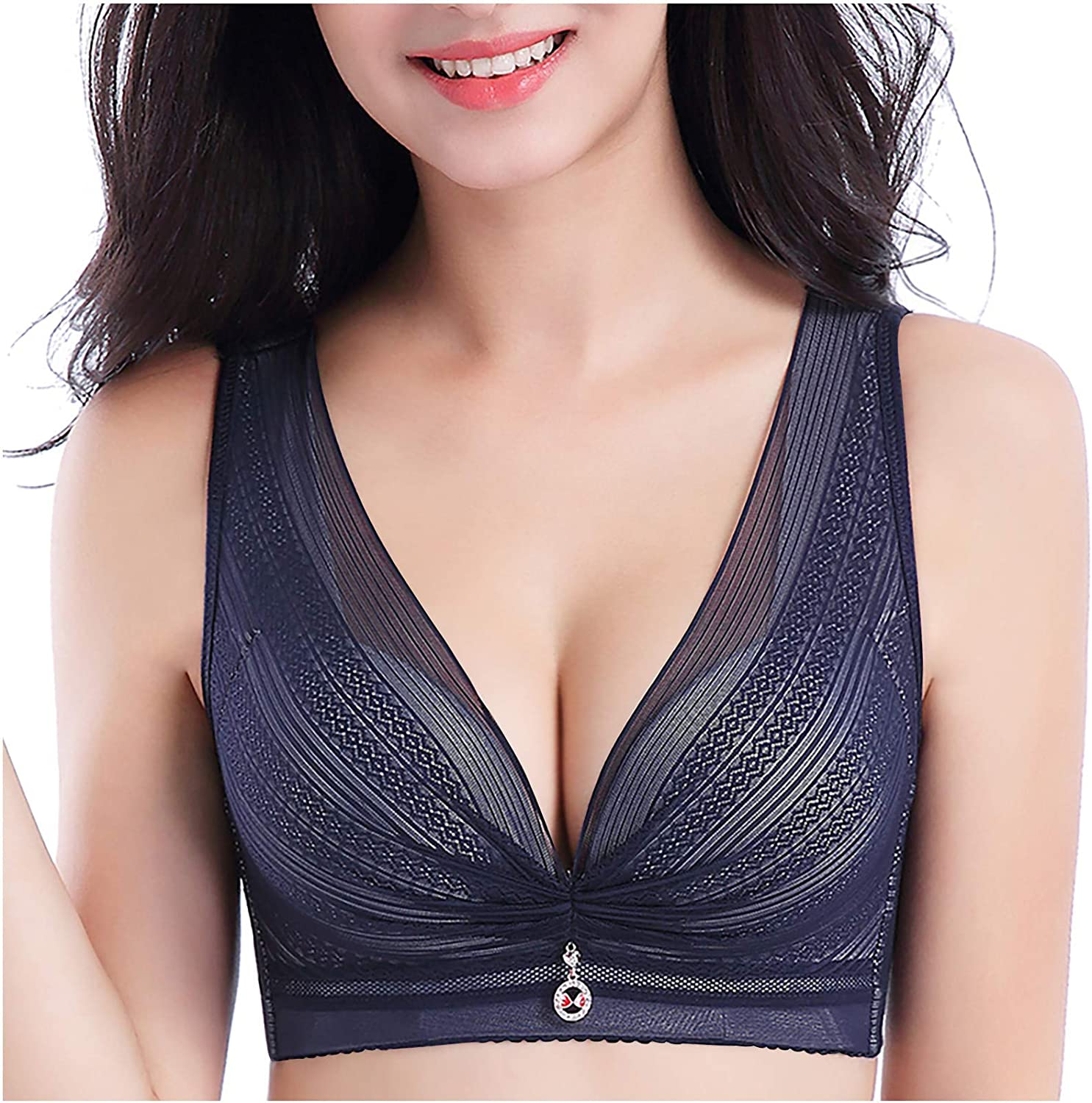 Womens Sexy Bras Mesh Splicing Stretchy Plus Size Sports Bralette Solid Color Underwear Yoga Hollow Out Bra Intimates