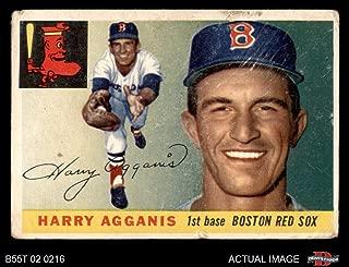 1955 Topps # 152 Harry Agganis Boston Red Sox (Baseball Card) Dean's Cards 1.5 - FAIR Red Sox