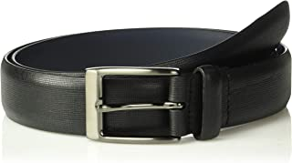 Original Penguin Men's 32mm Saffiano Leather Belt
