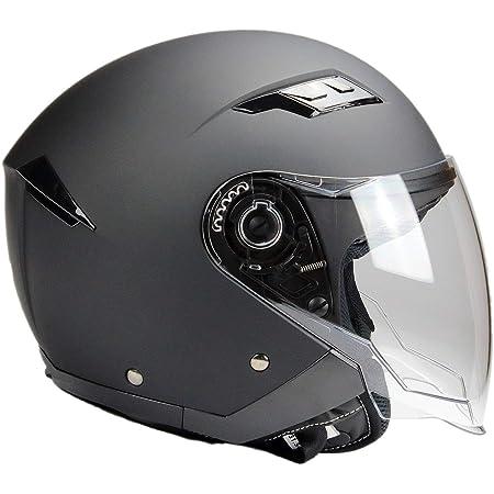 Bno Jethelm Mi Langvisier Jet200 Motorradhelm Roller Helm Schutzhelm Matt Schwarz Xs Xxl S Auto