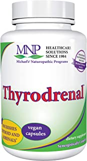 Michael's Naturopathic Programs Thyrodrenal - 120 Vegan Capsules - Nourishes Thyroid Gland with Essential Nutrients to Fun...