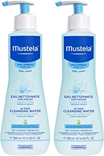 Mustela No Rinse Baby Cleanser - Micellar Water - with Avocado & Aloe Vera - For Baby's Face, Body & Diaper - Various Sizes