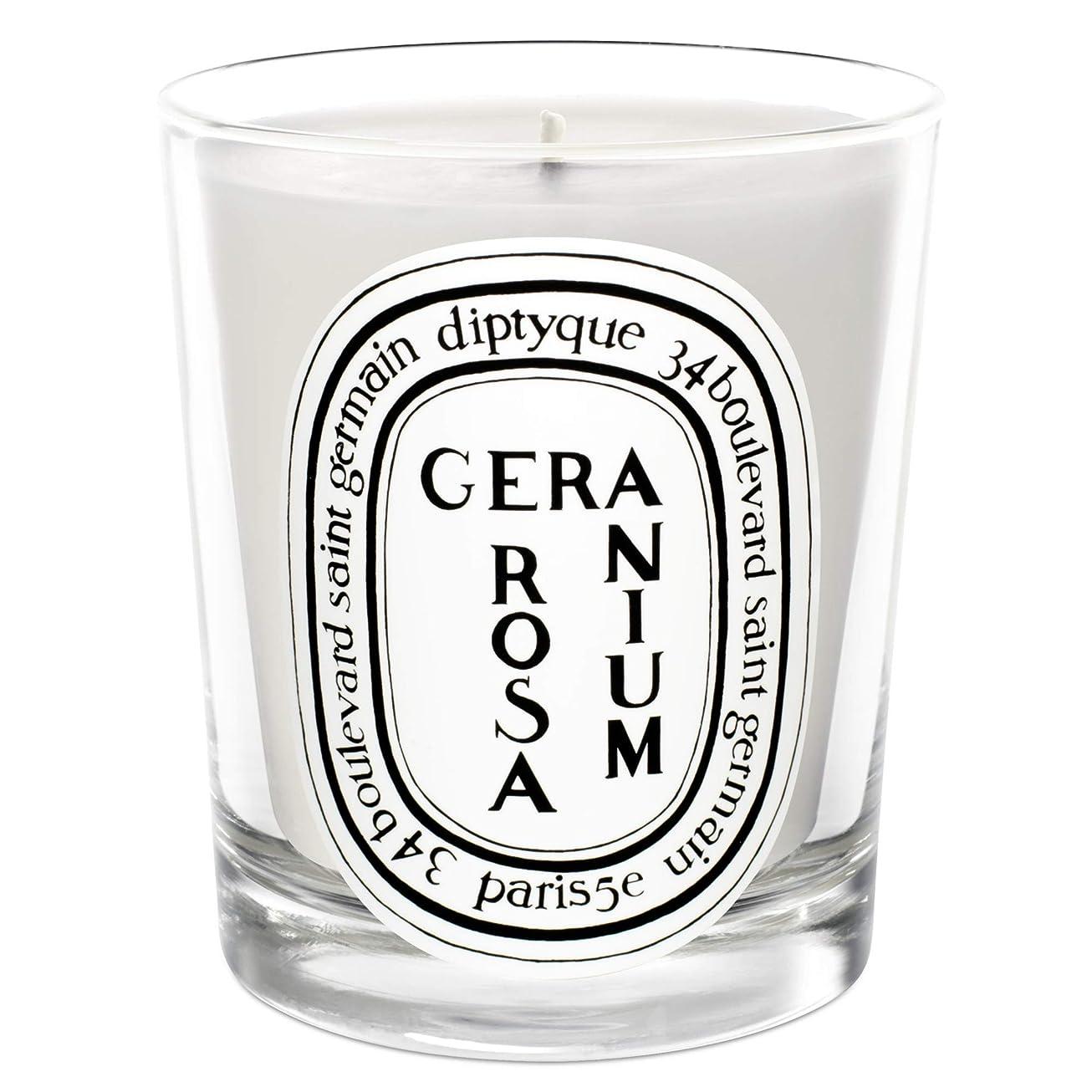 狂ったユーモアどこにも[Diptyque] Diptyqueゼラニウムローザ香りのキャンドル190グラム - Diptyque Geranium Rosa Scented Candle 190g [並行輸入品]