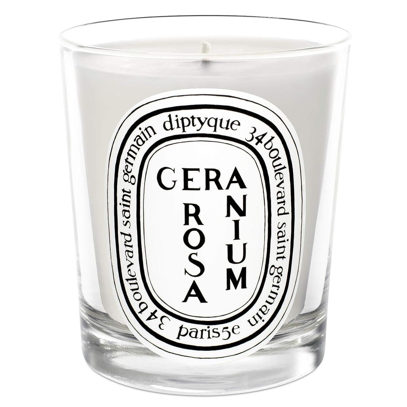 敵意アソシエイト接ぎ木[Diptyque] Diptyqueゼラニウムローザ香りのキャンドル190グラム - Diptyque Geranium Rosa Scented Candle 190g [並行輸入品]