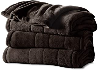 Sunbeam Heated Blanket | Microplush, 10 Heat Settings, Walnut, Twin – BSM9KTS-R470-16A00