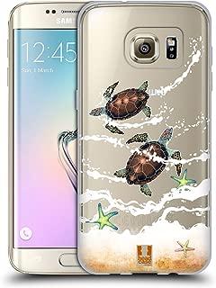 Head Case Designs Turtles Sea Animals Soft Gel Case Compatible for Samsung Galaxy S7 Edge