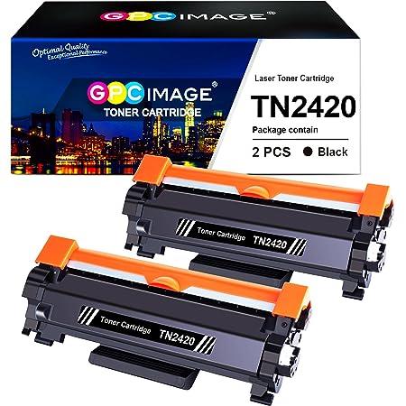 GPC Image TN2420 TN-2420 Cartouche de Toner Compatible pour Brother TN2410 TN-2410 pour Brother DCP L2510D L2530DW L2550DN,HL L2310D L2350DW L2370DN L2375DW,MFC L2710DN L2710DW L2730DW L2750DW(2 Noir)
