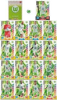 Match Attax Bundesliga 2017 2018 - VfL Wolfsburg Mannschafts-Set 18 Karten Basiskarten Clubkarte Starspieler - Deutsche Ausgabe
