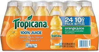 Tropicana 100 % Orange Juice (Pack of 24) 10 Fl Oz, 240 Fluid Ounce