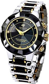 [ジョン・ハリソン]J.harrison 腕時計電波ソーラー4石天然ダイヤモンド付セラミック JH-024MBB メンズ 【正規輸入品】