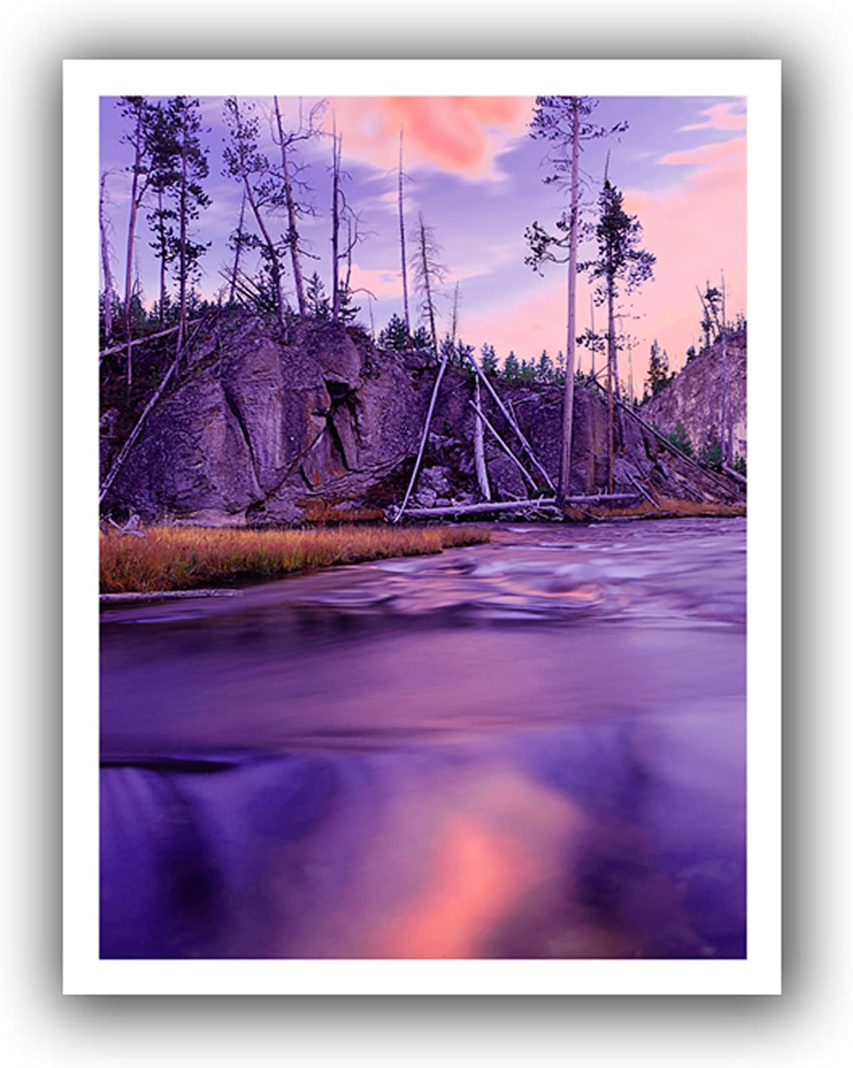 ArtWall Gibbon River Twilight Unwrapped Canvas Artwork by Dean Uhlinger, 28 by 36Inch, Holds 24 by 32Inch Image