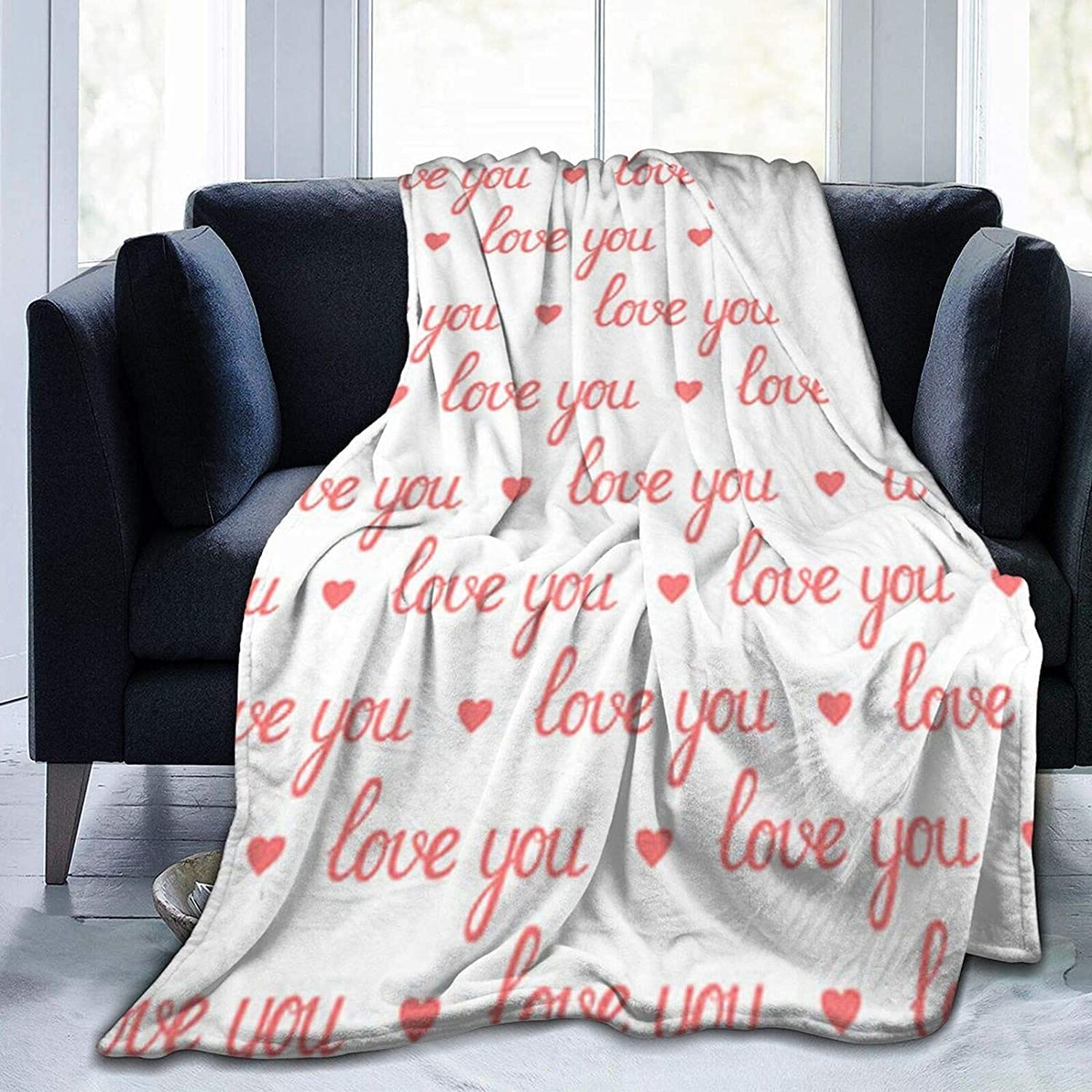 Fleece Blanket Twin Flannel New Shipping Free Shipping Day Regular discount Blanket-Valentine's Love