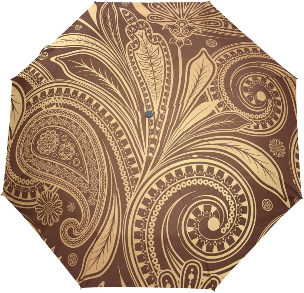 Umbrella Auto Open Close Element Floral A 3 Folds Paisley Louisville-Jefferson County Ranking TOP10 Mall Flower