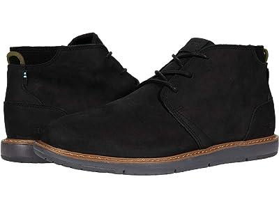 TOMS Navi (Black Leather) Men