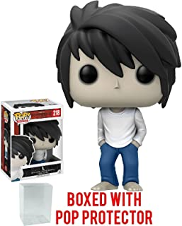 Funko Pop! Anime: Death Note - L Vinyl Figure (Bundled with Pop BOX PROTECTOR CASE)