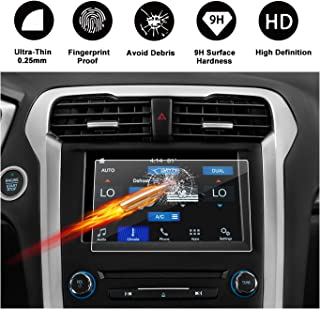 [Updated] 2013-2019 Ford Fusion sync2 sync3 8-inch Display Touch Screen Car Display Navigation Screen Protector, R RUIYA HD Clear Tempered Glass Protective Film
