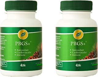 4life PBGS Antioxidant combination of pinebark and grapeseed extracts 120 Tablets each (pack of 2)