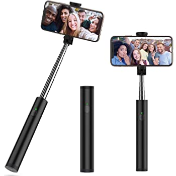 Yoozon Perche pour Selfie Bluetooth, Mini Selfie Stick Monopode Extensible avec Télécommande Bluetooth Intégré, Bâton Selfie Réglable pour iOS Android Smartphone comme iPhone, Samsung, Huawei, etc.