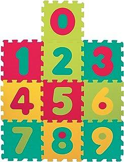 LUDI – Tapis de sol épais et jouet Éducatif – 1053 - puzzle géant aux motifs Chiffres – dès 10 mois – lot de 10 dalles en ...