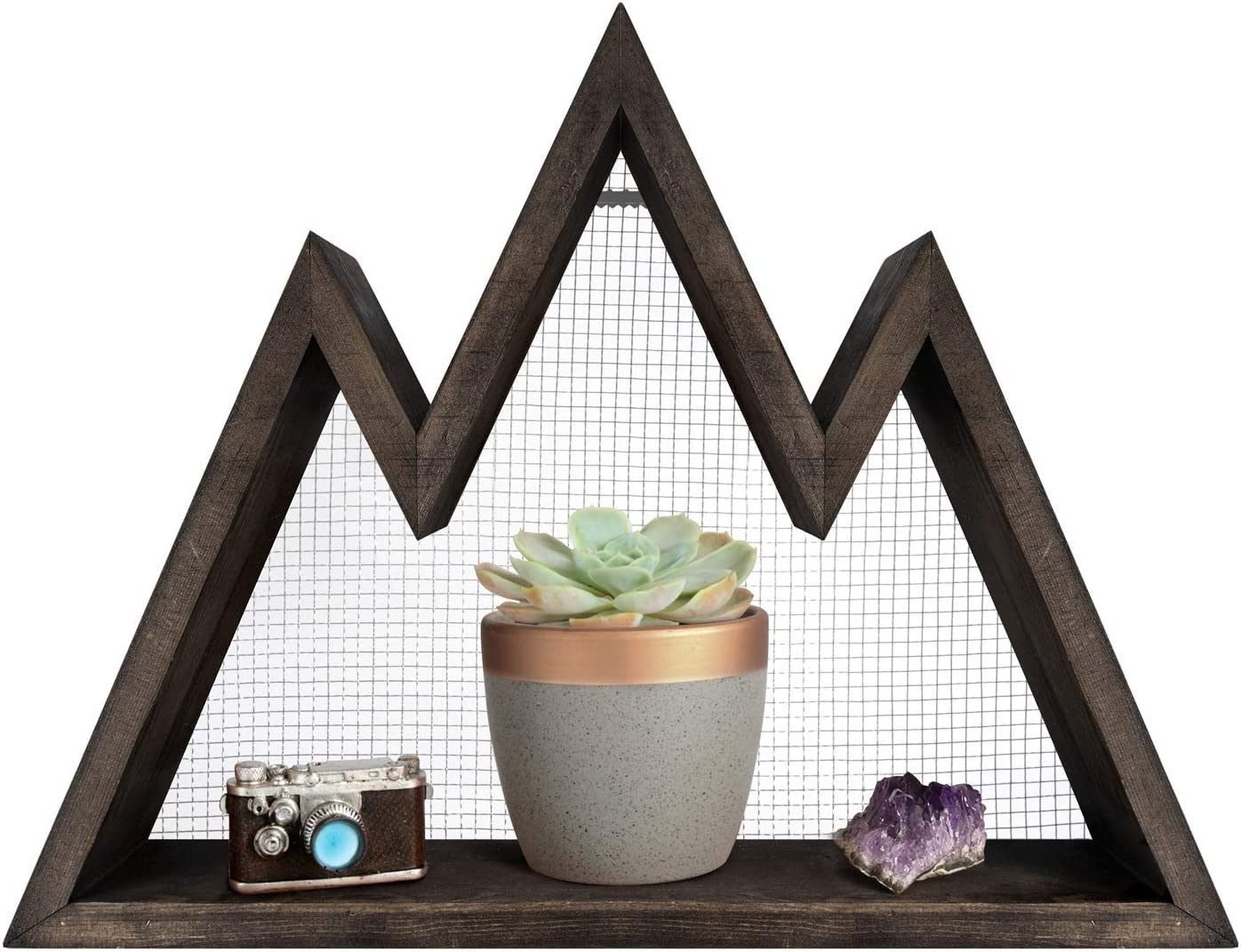 Mkono Special sale item Mountain Shelf Floating Wall Rustic Sh SEAL limited product Display Wood